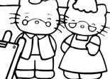 Hello Kitty Coloriage