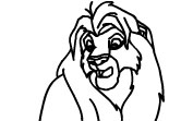 Coloriage Roi Lion 2