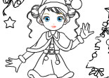 Coloriage de No�l Merry Christmas