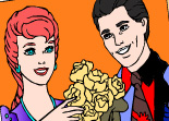 Coloriage Couple Mari�