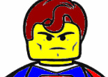 Lego Superman à Colorier