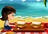Sweet Baby Girl Beach Picnic Android