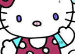 Hello Kitty Coloriage avec les Chiffres