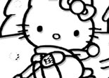 Hello Kitty Joue Coloriage