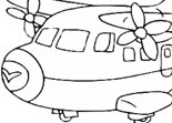 Coloriage Avion Fun