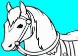 Coloriage Cheval de Princesse