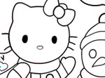 Coloriage Hello Kitty Noël