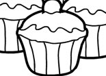 Coloriage Cupcakes